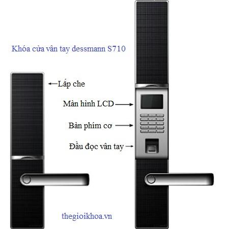 Khóa cửa vân tay Dessmann S710- Đức