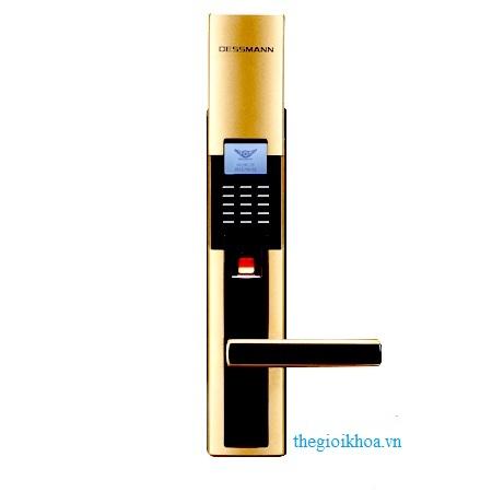 Khóa cửa vân tay Dessmann S5101 vàng