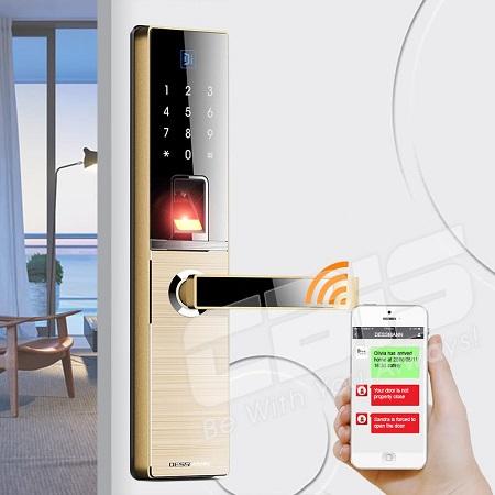 Khoá cửa vân tay wifi Dessmann A800-P (Đức)